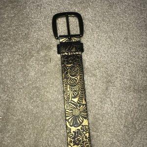 Floral Gold Belt
